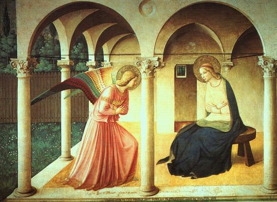 The Annunciatory Angel ( detail of Fra Angelico's The Annunciation)