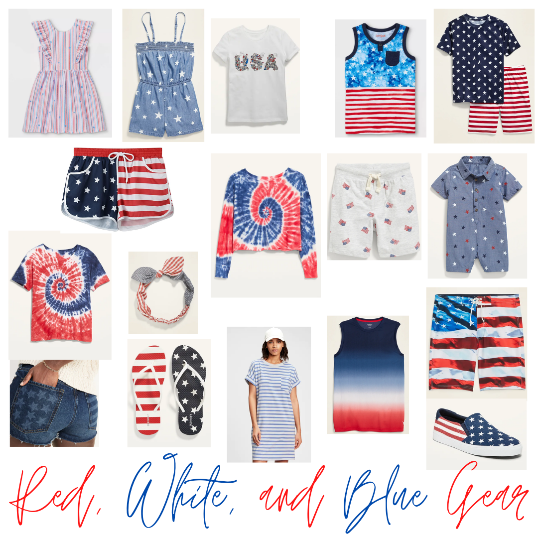 Red, White and Blue Gear
