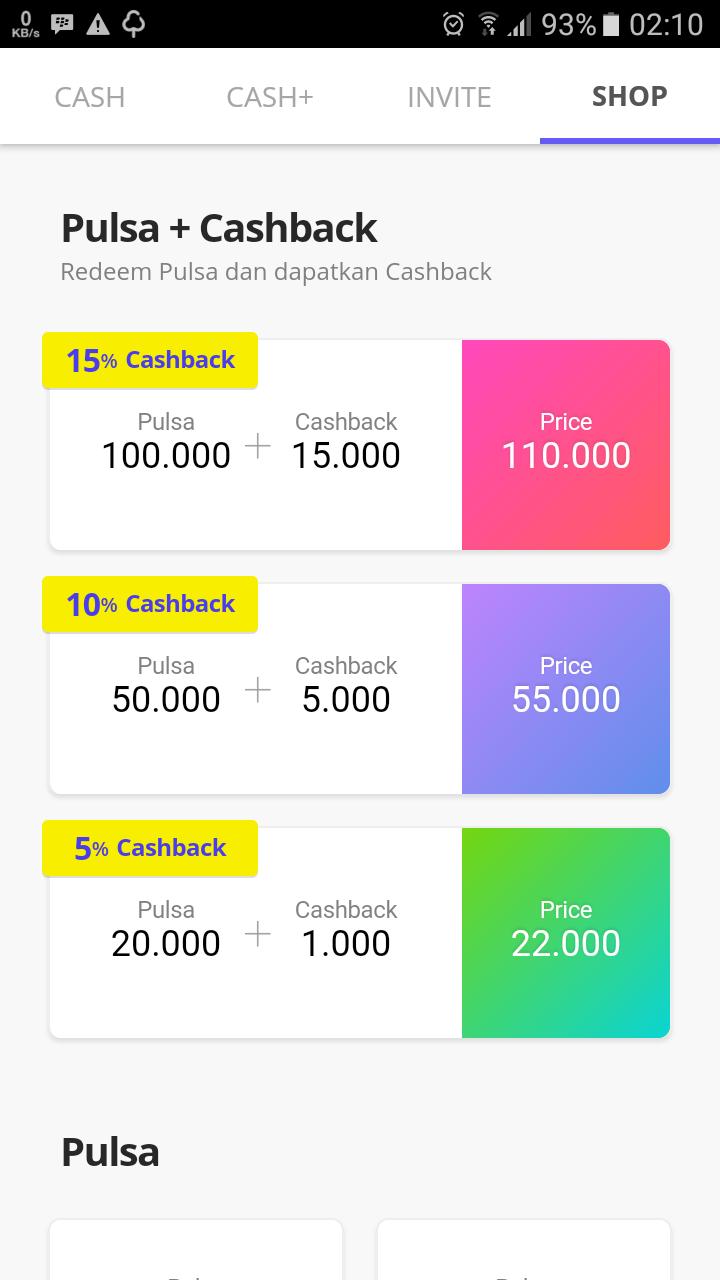 Cara Mendapatkan Uang Pulsa Dengan Cashtree - WhaffDuit