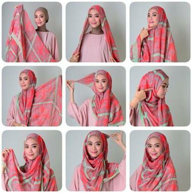 Tutorial hijab terbaru simple