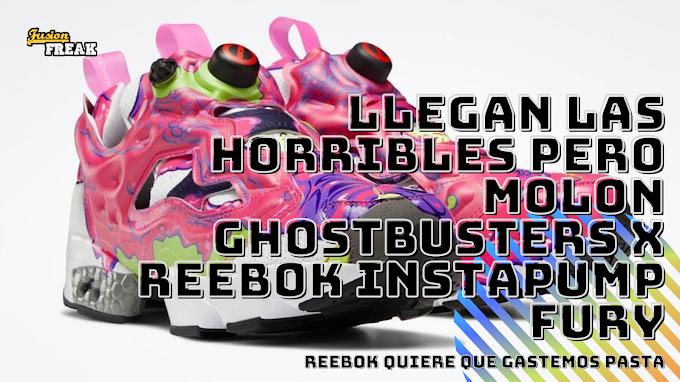 Si eran horribles pero molaban las de Jurassci Park, atención a las Reebok Cazafantasmas: Ghostbusters x Reebok Instapump Fury