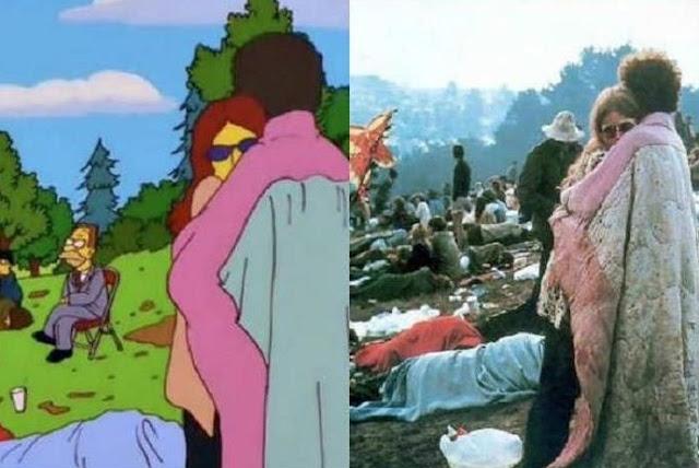 Pareja en Woodstock, Los Simpsons
