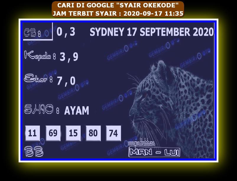 Kode syair Hongkong Kamis 17 September 2020 245