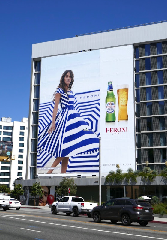 Giant Peroni Birra Beautifully billboard