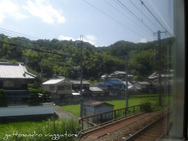 Treno da Osaka a Nara