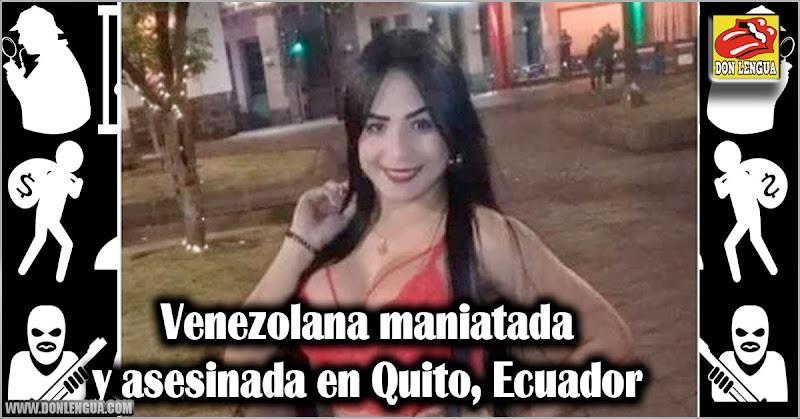 Venezolana maniatada y asesinada en Quito, Ecuador