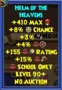 Wizard101 Best Gear - Zeus Tartarus Gear Drops - Level 90+