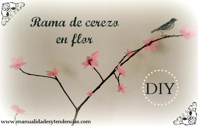 DIY Rama de flor de cerezo / Cherry blossom branch / tutoriel Branche de fleur de cerisier