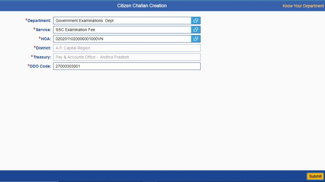 How To Make Challana for AP SSC /10th Class Failed Students In AP CFMS Step By Step Process