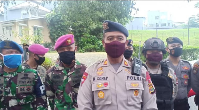 Pelopor Satuan Brimob Polda Lampung, Lakukan Patroli Bersekala Besar Gabungan TNI-Polri