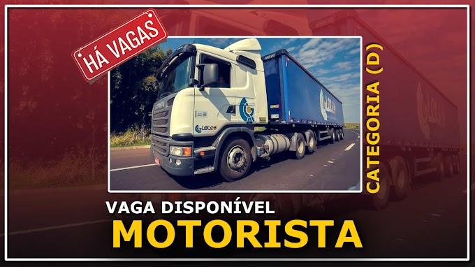 Transportadora Log 20 abre vagas para Motorista categoria D