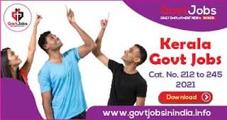 Kerala Govt Jobs 2021