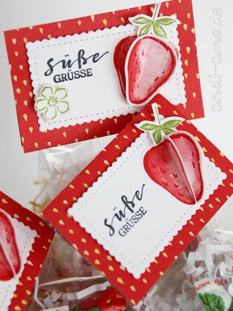 Stampin Up Erdbeeren Süße Grüße