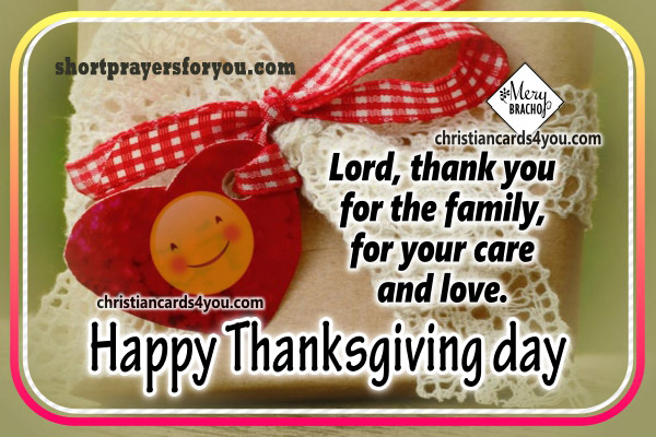 Short prayer for giving thanks to God, thanksgiving day, prayer, nice and short prayer to God by Mery Bracho.