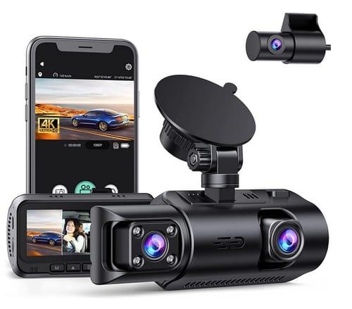 EYETOO 4K 3 Channel Car Dash Cam Built-in WiFi GPS