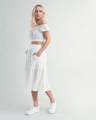 cewek manis dan seksi Midi Skirt