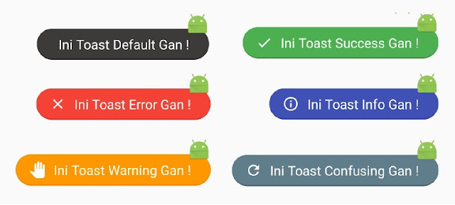agar toast ada iconnya