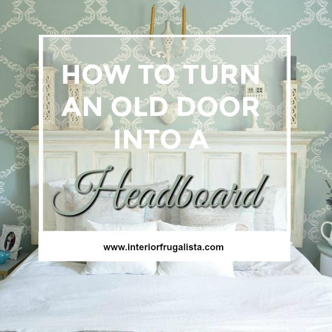 old door into a headboard