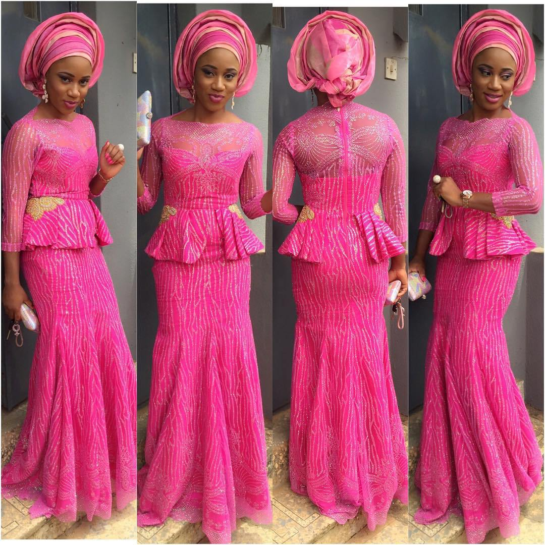 Creative Aso Ebi Skirt And Blouse Design Dezango