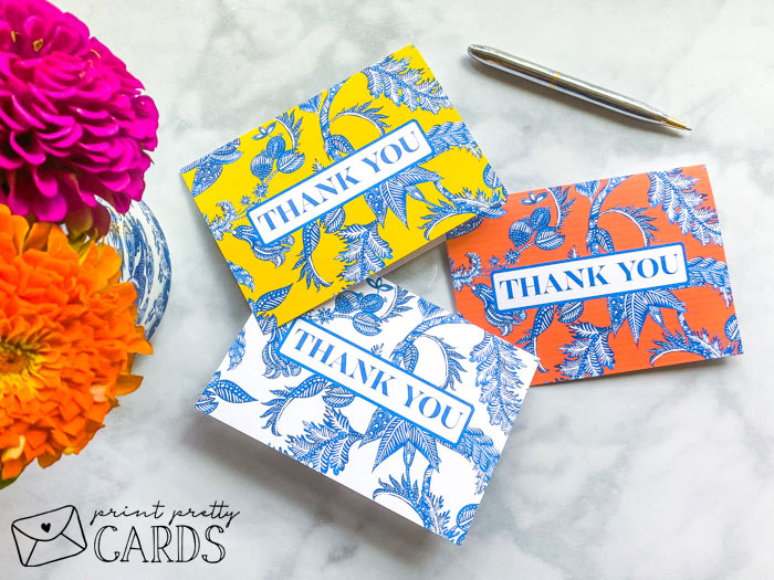 Chinoiserie Thank You Cards