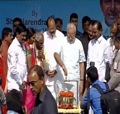 telangana mission bhagiratha inaugurated by PM