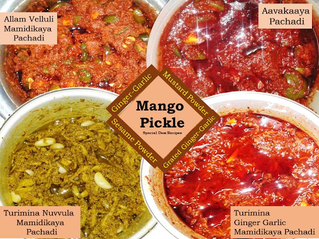 types of mango pickle