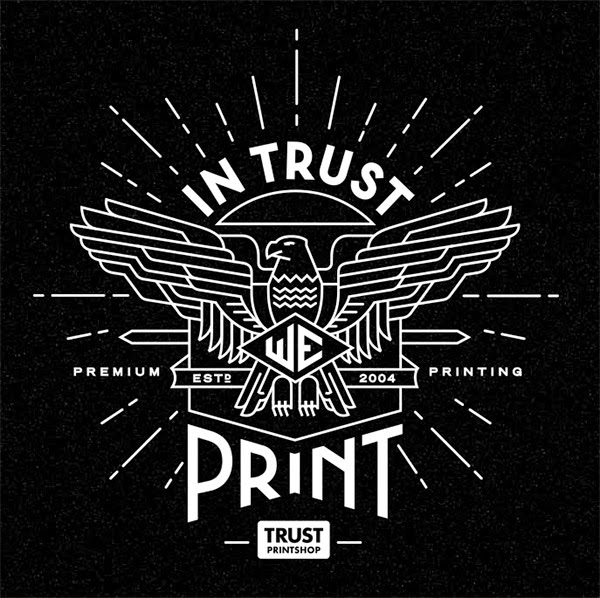 Inspirasi Desain Line Art - TRUST PRINTSHOP BY PAVLOV