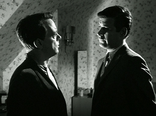Harry Townes and Peter Breck in O.B.I.T., The Outer Limits, 1963