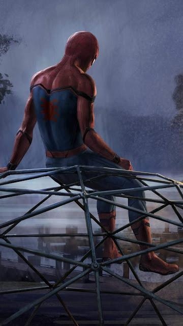 Sad Spider-Man wallpaper for Phone
