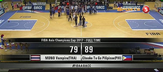 Chooks-to-Go Pilipinas def. Mono Vampire BC, 89-79 (REPLAY VIDEO) Battle for 5th / FIBA Asia Champions Cup 2017
