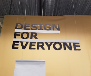 "IKEA sign in block letters that says ""Design for Everyone"""