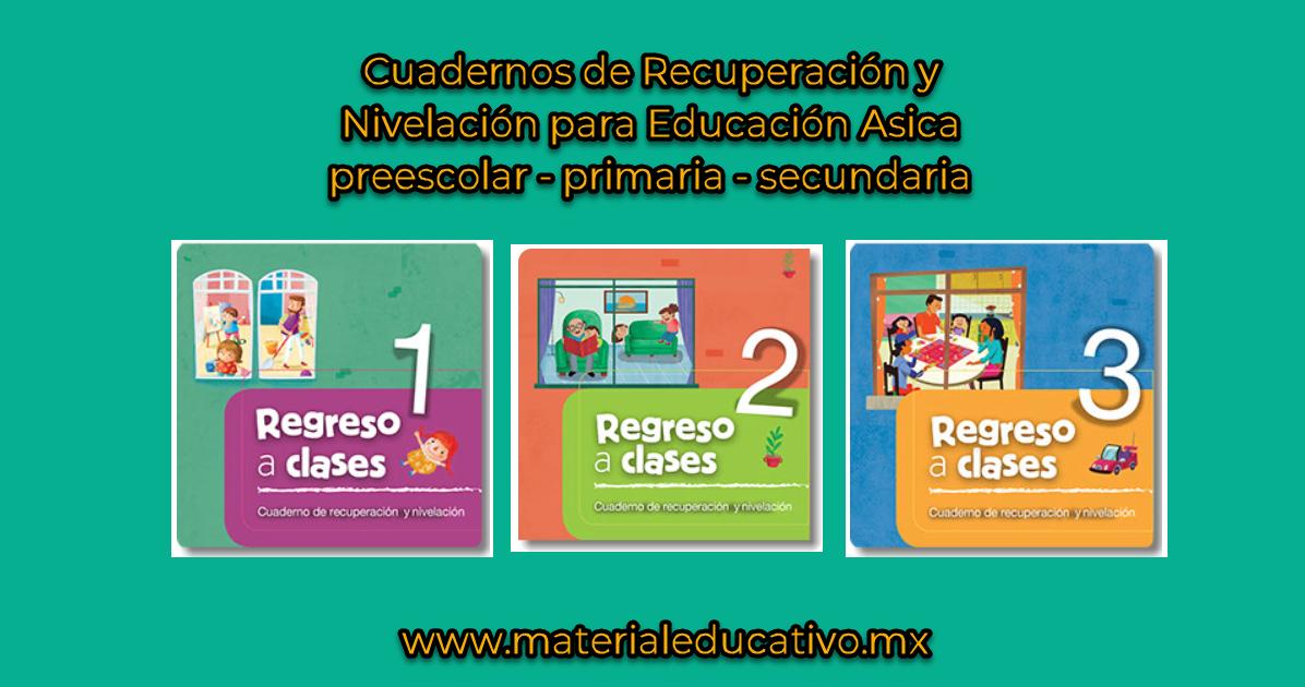Cuaderno de recuperación y nivelación para Preescolar