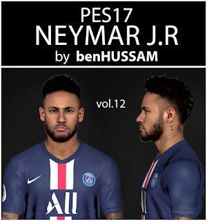 PES 2017 Faces Neymar Jr by BenHussam