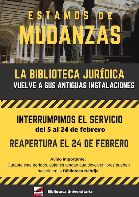 Nos comunican que habrá un retraso en la apertura de la Biblioteca Jurídica