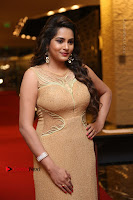 Actress Himaja Stills in Golden Spicy Long Dress at SIIMA Short Film Awards 2017 .COM 0209.JPG