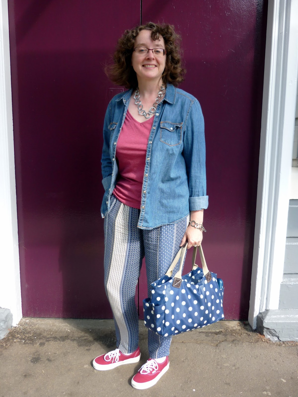 Printed Trousers, Vans, Spot Bag | PetiteSilverVixen