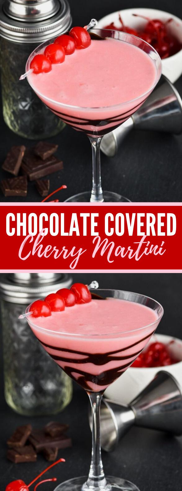 CHOCOLATE COVERED CHERRY MARTINI #drinks #vodka