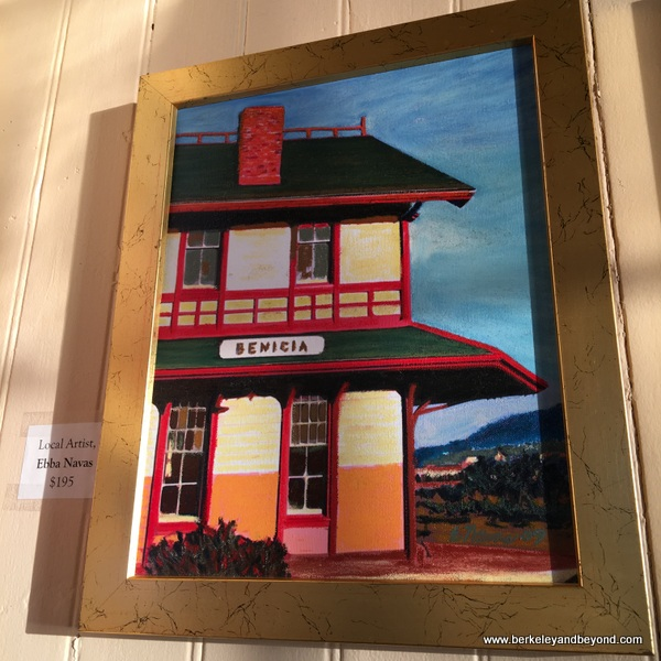 painting of Benicia Main Street by Ebba Navas in Benicia, California