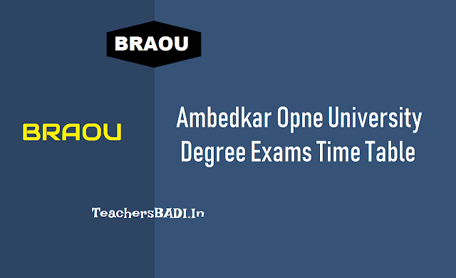 braou degree annual exams time table 2018,braou ug annual exams schedule,ba,bcom,bsc 1st 2nd 3rd year exams time table,first second third year exams time table,i,ii,iii year degree annual exams time table