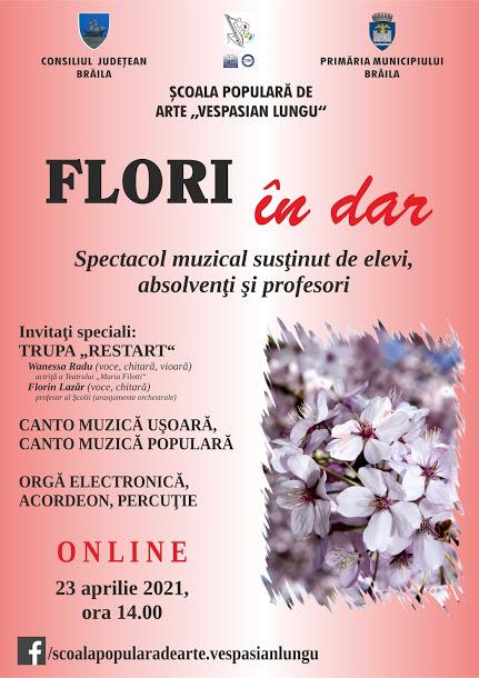 Spectacol muzical online Flori în dar