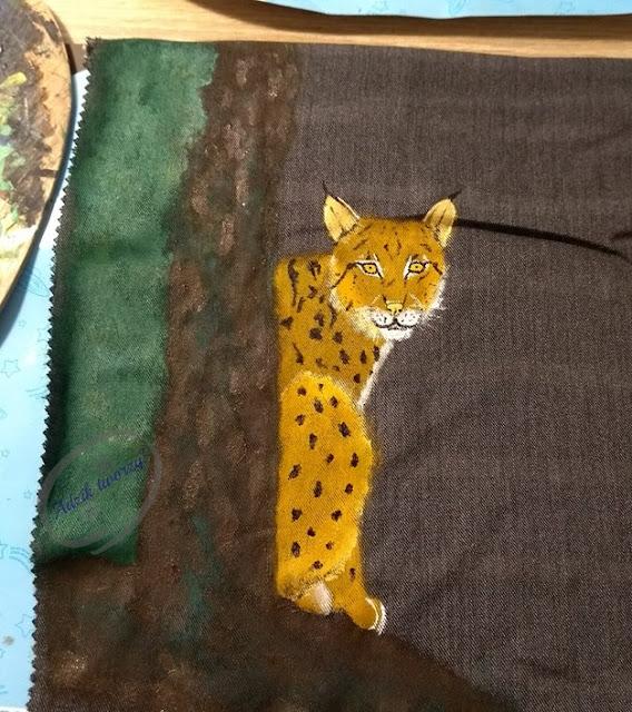 torebka handmade ryś ręcznie malowana jak zrobić - Adzik tworzy