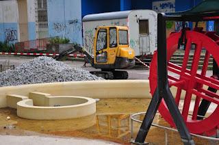 Juli 2015 - Baustelle auf dem 'Marktplatz'