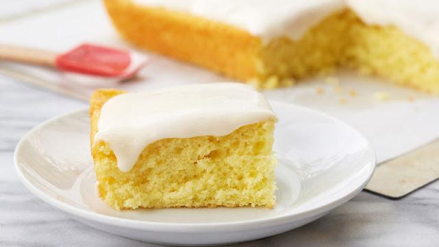 Yogurt and Lemon Birthday Sponge Cake