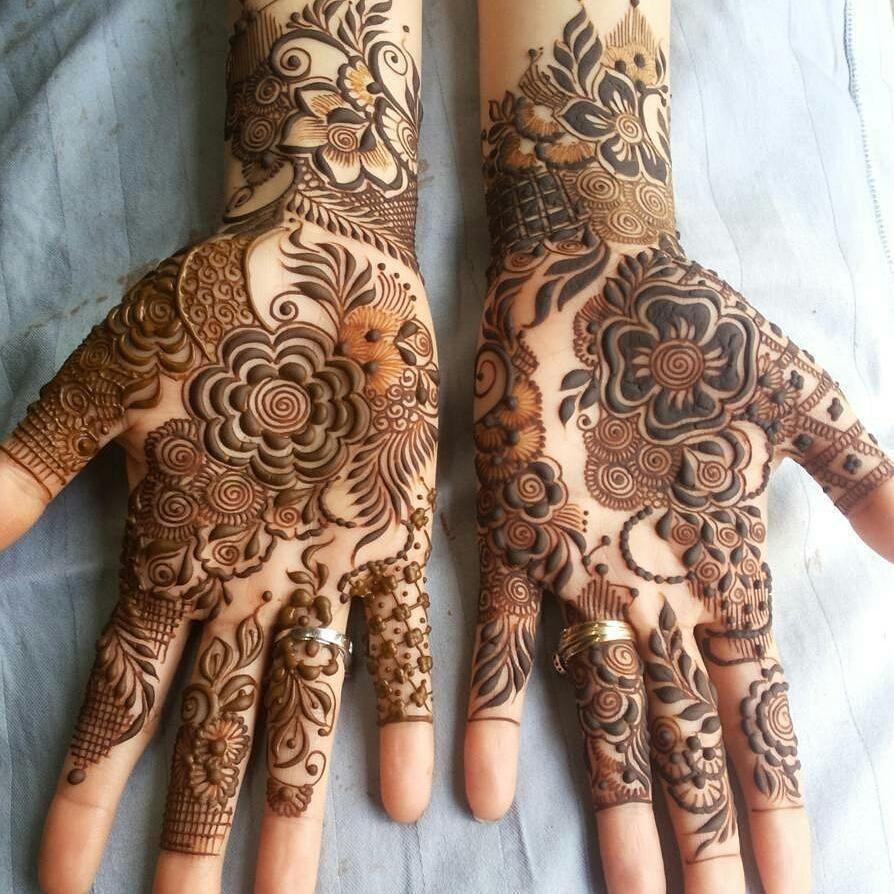 khafif mehndi designs for front hands