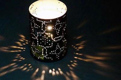 Como hacer Porta velas para exterior de Latas