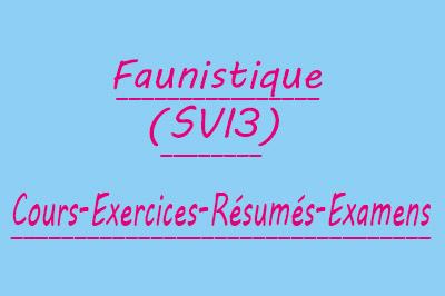 Faunistique SVI3 Cours // Td Et Exercices // Résumés // Examens