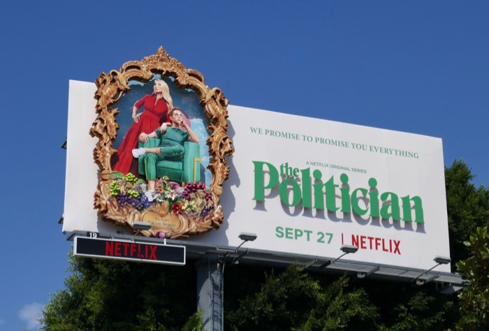 Politician 3D series launch billboard