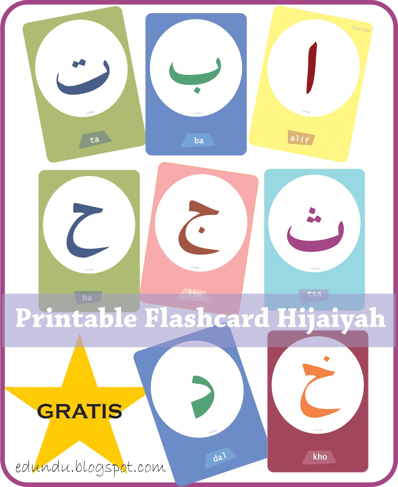 Gratis Printable Flashcard Hijaiyah