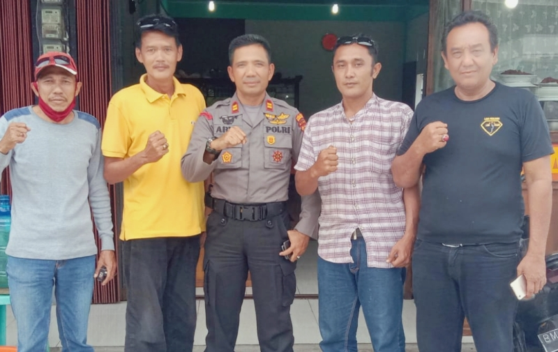 Setelah Sertijab di Polres Bengkalis, Iptu Sunaryo, SH.MH Berpamitan Dengan Wartawan dan LSM