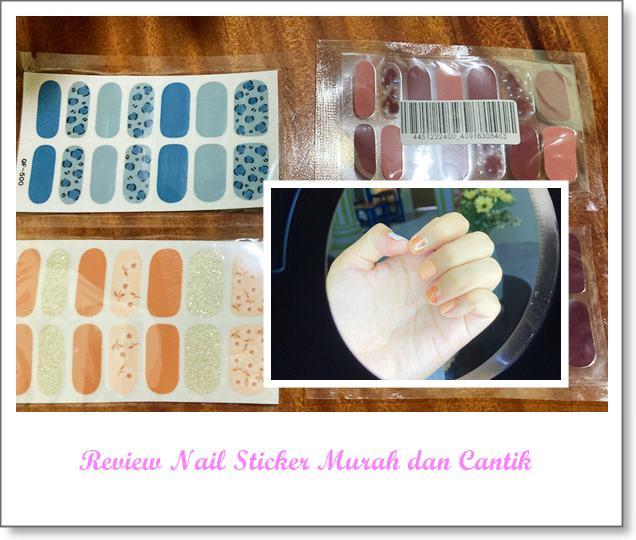 review nail sticker stiker kuku